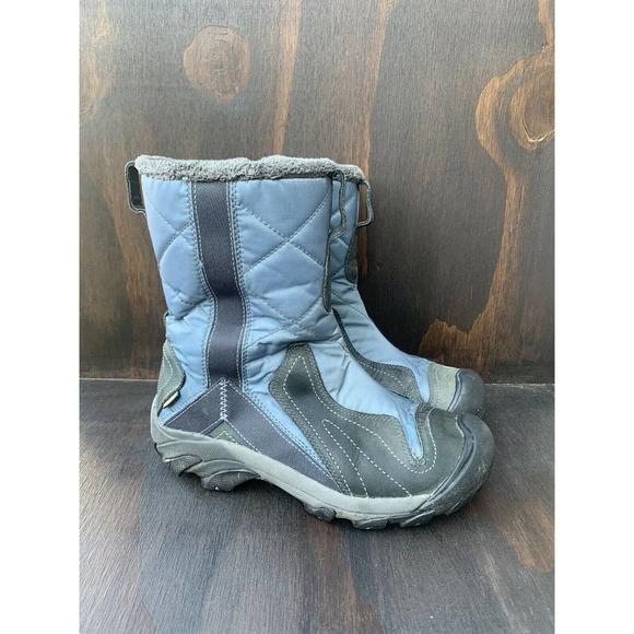 KEEN Waterproof Boots Side Zipper Blue Size 7 M